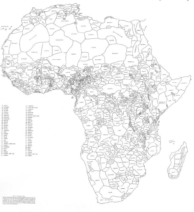 Map by George Peter Murdock,1959